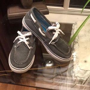 Boys slide on boat shoe
